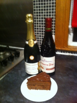 It's just pics of wine and cake for me this month... January; a fun-free zone