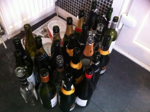 I promise you, oh reader, tonnes of people attended this party and drank a mere one glass each.