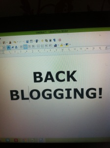 Emma Baird picture of a laptop with the words 'back blogging'