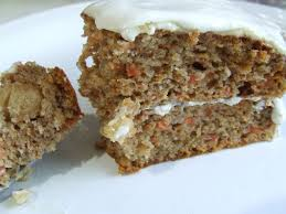 One slice of carrot cake.