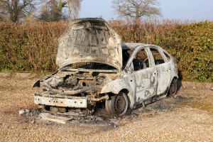 The burnt-out car - it doesn't happen half as much as Hollywood would have you believe.