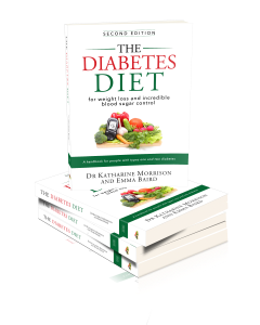 copies of the Diabetes Diet books in a pile