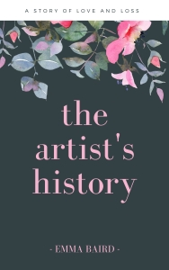 a copy of the book cover for the artist's history by Emma Baird