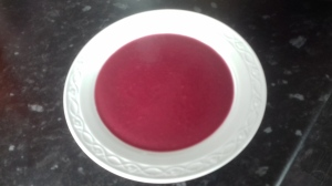 white bowl containing borsht soup by Emma Baird