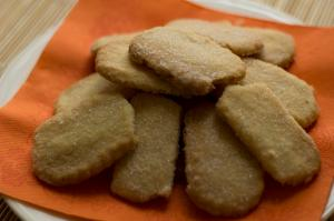 a plate of shortbread biscuits